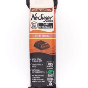 Well Naturally no sugar added rich dark chocolate 45g