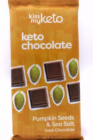Kiss my keto Keto Dark Chocolate, Pumpkin Seeds & Sea Salt