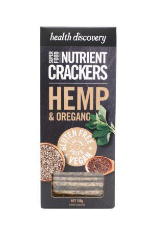 Nutrient Crackers Hemp & Oregano 150g