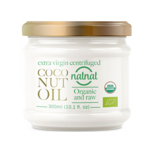 natnat 有機初榨離心萃取椰子油 300ml