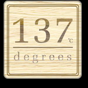 137 degrees