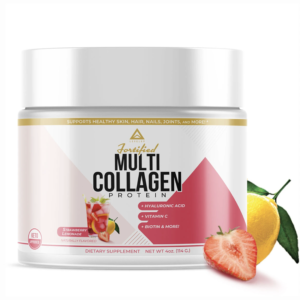 LevelUp® Fortified Multi-Collagen Protein Strawberry Lemonade 114g