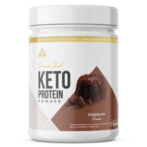 LevelUp® Grass-Fed Keto Protein Protein Powder Chocolate Cream 456g