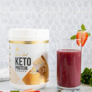 LevelUp® Grass-Fed Keto Protein Powder Vanilla Sweet Cream 456g
