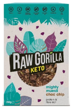 Raw Gorilla Keto 生酮有機朱古力粒粒堅果脆 250g