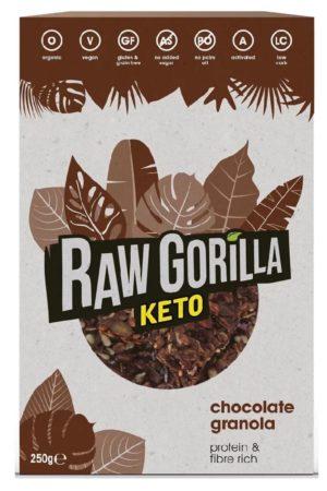 Raw Gorilla Keto 生酮有機朱古力堅果脆 250g