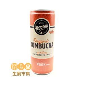 澳洲有機紅茶菌 250ml 桃味罐裝