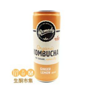 澳洲有機紅茶菌 250ml 薑檸味罐裝