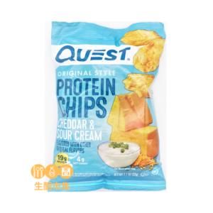 Quest 玉米餅蛋白脆片 車打芝士酸忌廉味 32g